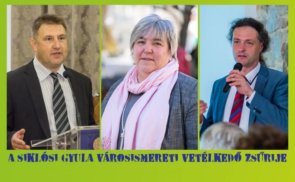 A Siklósi Gyula Városismereti Vetélkedő zsűrije